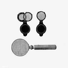 Vintage magnifying glasses illustration (Free Public Domain Illustrations by rawpixel) Tags: british antique art black blackandwhite cc0 collection creativecommons0 crime decoration design designresource drawing engraving equipment etching europe european handdrawn handle icon illustrated illustration ink lawandjustice magnifying name nostalgic oldfashioned ornament pen psd publicdomain retro set sketch style symbol tattoo tool vintage