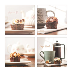 Cupcakes (Mandy Willard) Tags: cafetiere coffee cup mug cake cupcake chocolate frosting spoon sponge teapot saucer