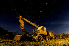 Caterpillar for poor (ReppiX) Tags: nightphotography nightshot bagger nachtfotografie lowlights nacht night sterne stars nachtfoto nightshooting nachtaufnahme wallpaper nachthimmel sternenhimmel nightsky