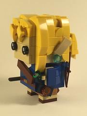 Link from Breath of the Wild, brickheadz (Spawnwrithe) Tags: lego moc afol creation figure nintendo zelda link breath wild blue hyrule mini cute brickheadz hair