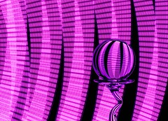 In the Pink (Karen_Chappell) Tags: pink black ball round circle led orb sphere glass stilllife lightpainting abstract refraction lights longexposure