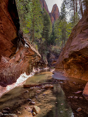 West Fork Trail Slot Canyon (John Piekos) Tags: hiking psychedelic reflection canyon sedona slotcanyon patterns cliffs water iphone stream arizona vacation trail iphonexs westfork