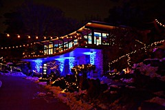 Garden House, Winter Lights at the Rock, David Braley and Nancy Gordon Rock Garden, Royal Botanical Gardens, Hamilton, ON (Snuffy) Tags: christmas holidaytraditions royalbotanicalgardens rbg hamilton ontario canada winterlightsattherock gardenhouse davidbraleyandnancygordonrockgarden rockgarden photographyvision groupecharlietitanium