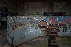 Abandoned power station. (ducatidave60) Tags: fuji fujifilm fujinonxf14mm28r fujifilmxpro1 abandoned decay dereliction urbandecay urbex urban