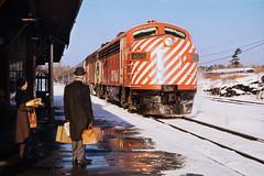 The Canadian - Mid 1970s (johnjackson808) Tags: slidefilm 1970s suitcase parrysound valise cprail ektachrome passengertrain thecanadian kodak
