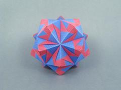 Kassandra (masha_losk) Tags: kusudama кусудама origamiwork origamiart foliage origami paper paperfolding modularorigami unitorigami модульноеоригами оригами бумага folded symmetry design handmade art