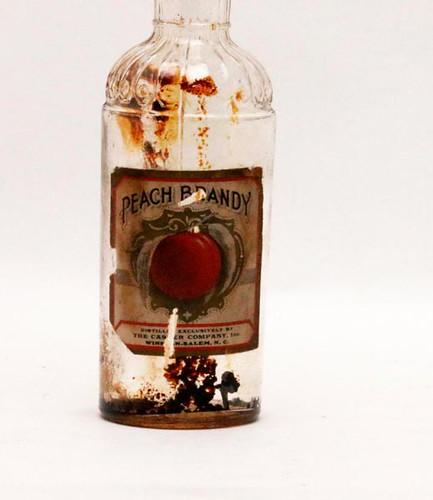 Winston-Salem Peach Brandy paper label whiskey bottle ($156.80)