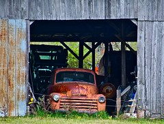 Hot wired  Chevy (Dee Gee fifteen) Tags: truck happytruckthursday chevy barn rust weathered rural