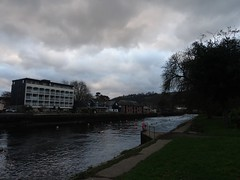 Cold and cloudy (Phil Gayton) Tags: grass water building sky cloud bridgetown vire island river dart totnes devon uk buoyant