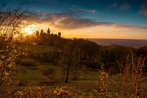 Schloss Drachenburg Sonnenuntergang