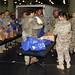 New York Military Forces personnel pack Thanksgiving dinners