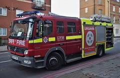 North Woolwich fire (85) 12-12-18 (AJBC_1) Tags: northwoolwich eastlondon londonboroughofnewham london milkstreet greatbritain unitedkingdom uk gb england ajbc1 ©ajc dlrblog fire housefire emergency ukemergencyservices londonfirebrigade lfb las newham fireengine fireappliance firetender dpl1286 ae07hxg barkingfirestation mercedesatego1325f pumpingappliance dualpumpladder nikond5300