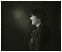 HIKARINOKO (Tamakorox) Tags: student highschoolstudent portrait art mamiyarb67prosd japan japanese asia lights shadow pleasure graduate love film analoguecamera b&w hikarinoko kodak tmax iso400 日本 日本人 光 影 喜び 卒業 愛 高校生 光の子 玉掛寫眞館 ポートレート