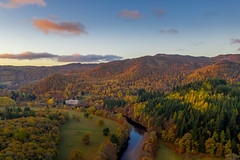 Photo of Clunie Power Stattion and the hills around Pitlochry