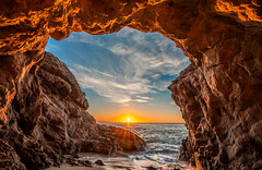 Malibu Beach Sea Cave Sunset! Sony A7R III Red & Orange Clouds Fine Art El Matador State Beach California Landscape Seascape Photography! Sony FE 16-35mm f/2.8 GM G Master Lens! High Res 4k 8K Photography! Elliot McGucken Pacific Ocean! Sony A7RIII A7R3! (45SURF Hero's Odyssey Mythology Landscapes & Godde) Tags: malibu beach sea cave sunset red orange clouds fine art el matador state california landscape seascape photography sony a7r iii fe 1635mm f28 gm g master lens high res 4k 8k elliot mcgucken pacific ocean a7riii a7r3