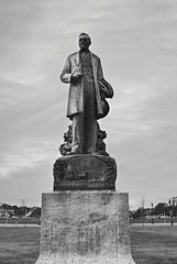 James A Bradley (David Swift Photography) Tags: davidswiftphotography newjersey asburyparknj jamesabradley statues sculpture parks jerseyshore 35mm nikonfm2 ilfordxp2