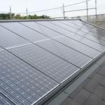 屋根組込型PVシステムの写真