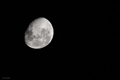 Moon over Adelaide (Helen C Photography) Tags: moon space night monochrome nikon d750 nikond750 sigma 70200mm
