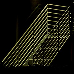Stair Abstract #5 (2n2907) Tags: stairs staircase abstract night photo dark architectural olympus omd digital mirrorless lowlight iso1600