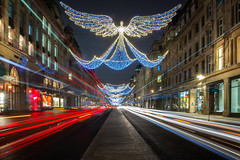 Regent Street Angels (Rich Walker Photography) Tags: london christmas lights traffictrails lighttrails england greatbritain city cityscape morning canon efs1585mmisusm eos eos80d road