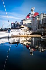 Reflection (Maria Eklind) Tags: operan autumn båt lillabommen gothenburg göteborg reflection spegling sweden boat höst gothenburgopera läppstiftet city västragötalandslän sverige se