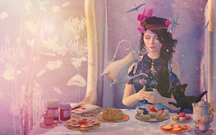 Dreamy Teaparty (Acacia Crescent) Tags: witch dream teaparty harrypotter mm sl secondlife mischiefmanaged magic tea hufflepuff