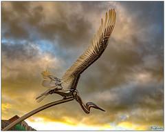 Heron (bob the bolder) Tags: uk durham city sculpture steel heron flight lumiere jonvoss