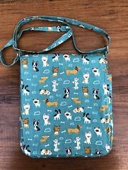 Teal Dogs (KinokoKreations) Tags: crossbody tabletbag gadgetbag