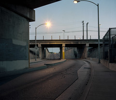 Underpass (ADMurr) Tags: dad704 la eastside underpass night light asphalt cement hasselblad 500cm kodak portra 80mm zeiss planar