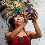 Woman in Mayan Dress - Pisté, Yucatán, México thumbnail