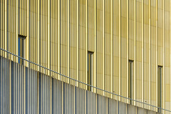 Golden facade with lines (Jan van der Wolf) Tags: map19062vv gold lines facade alphenaandenrijn gevel lijnen lijnenspel interplayoflines playoflines line handrail leuning architecture architectuur repetition ritme rhythm herhaling visualrhythm