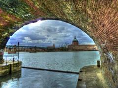Canal de Brienne se jéte  dans la Garonne (Co-jjack) Tags: arche canal