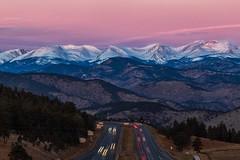 Rocky Mountain Glow (mnryno) Tags: snow mountains sunrise colorado