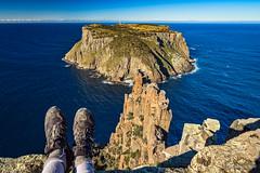 Cape Pillar and Tasman Island (NettyA) Tags: 2017 3capestrack australia capepillar day3 sonya7r tasmannationalpark tasmanpeninsula tasmania tassie threecapestrack bushwalk bushwalking hike hiking boots