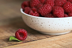 Fresh and fruity.... (eleni m) Tags: fruit food macro bowl strawberries table red berries