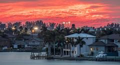 Sunset Boca Ciega Bay (vwalters10) Tags: sunset bay clouds buildings trees sunrise florida night flickrexploreme