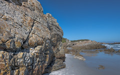 The rocks and silver sands... (Coisroux) Tags: beach rockface hermanus landscape ocean skies sand nikond850 d850 capetown cliffs
