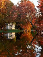 "Cincinnati - Spring Grove Cemetery & Arboretum ""Fleischman Mausoleum"" (David Paul Ohmer) Tags: cincinnati ohio spring grove cemetery arboretum fleischman mausoleum autumn fall reflection"