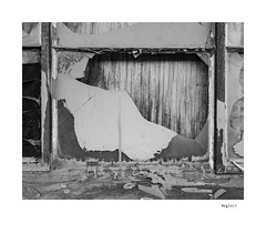 Neglect (agianelo) Tags: window broken glass pane paint peeling wood splintered monochrome bw bn blackandwhite