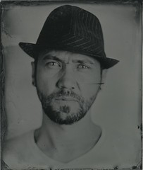 """N. 4x5"""" (Bertrand Carrot Film Photographer) Tags: chambrephoto analogcamera wetplate ambrotype glasses 4x5 collodion humide people headshot boys portraiture"""