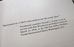 Fear... frontispiece of Bob Woodward's Book (Su_G) Tags: sug 2018 fearfrontispiece bobwoodwardbook theme fear quote text typography typographicaldesign book frontispiece bookfrontispiece quotation