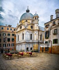 PLAZA (lornahamblin) Tags: venice plaza square venizia neighborhood church dome dining textured
