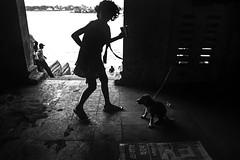 TWO FRIENDS (Arunabha Kundu) Tags: ngc travel people street friendship bonding love blackandwhite darkambiance lowlight riverside silhouette backlight