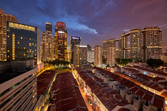 Tanjong Pagar Landmarks (Scintt) Tags: singapore marina bay sky dramatic travel tourist attraction exploration movement motion skyline cityscape city urban modern structures architecture buildings offices shenton way cbd scintillation scintt jonchiangphotography iconic surreal epic wideangle still calm glow light tones nature dusk twilight longexposure slowshutter bluehour trails hotel office towers skyscrapers rafflesplace wide night evening sigma art 1224 financial business centralbusinessdistrict tanjongpagar residential real estate apartments duxton pinnacle hdb shophouses oasia sunset orange clouds