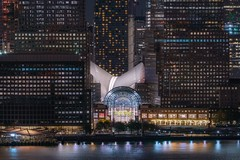 Windows (karinavera) Tags: city longexposure night photography cityscape urban ilcea7m2 sunset newyork architecture oculus manhattan view wallstreet