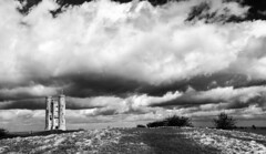 Storm Gareth (WorcesterBarry) Tags: blackwhite bnw blackandwhite clouds architecture broadwaytower weather places outdoors lovebw light landscape urban buildings england