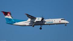 LX-LQA / Bombardier Dash 8 Q400 / Luxair (PBe1958) Tags: transportation lietadlo aircraft airplane aero aeroplane airliner propliner bombardier dh8d dhc8400q dash8q400 lgl luxair vie loww wienschwechat viennainternational