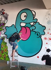 2018-06-30 - Peterborough - Nol (Paint Jam at the Undercroft) (H70T) Tags: streetart peterborough undercroft paintjam paintjamattheundercroft theundercroft nol