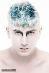Philipp Look I / 1 (FrameChaser) Tags: hair handsome boy man male portrait nude twink color haircoloring eyes blue makeup fineart studio highkey nikon d850 gay retouching postproduction beauty hairstyle hairdresser