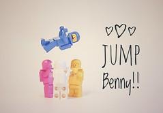 Jump Benny!! (pixlilli) Tags: legospace lego toysphotography bennyspace sonya7ii sony50mm